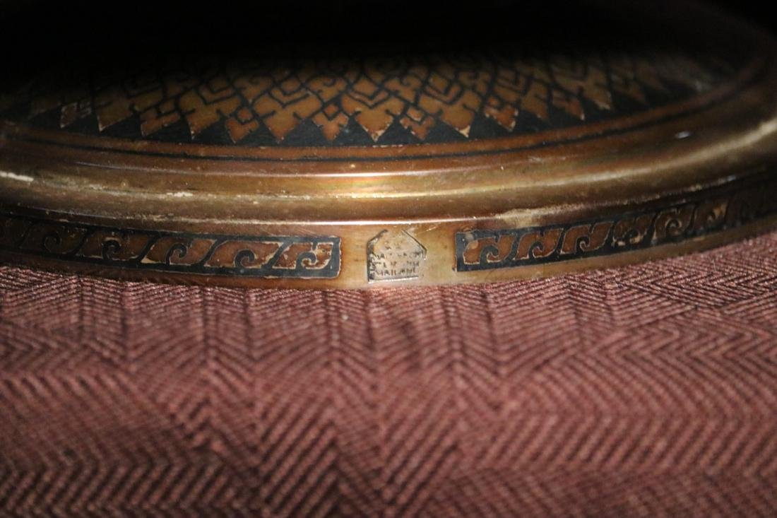 Burmese Silver Bowl with Inlaid Design - Albert - 7