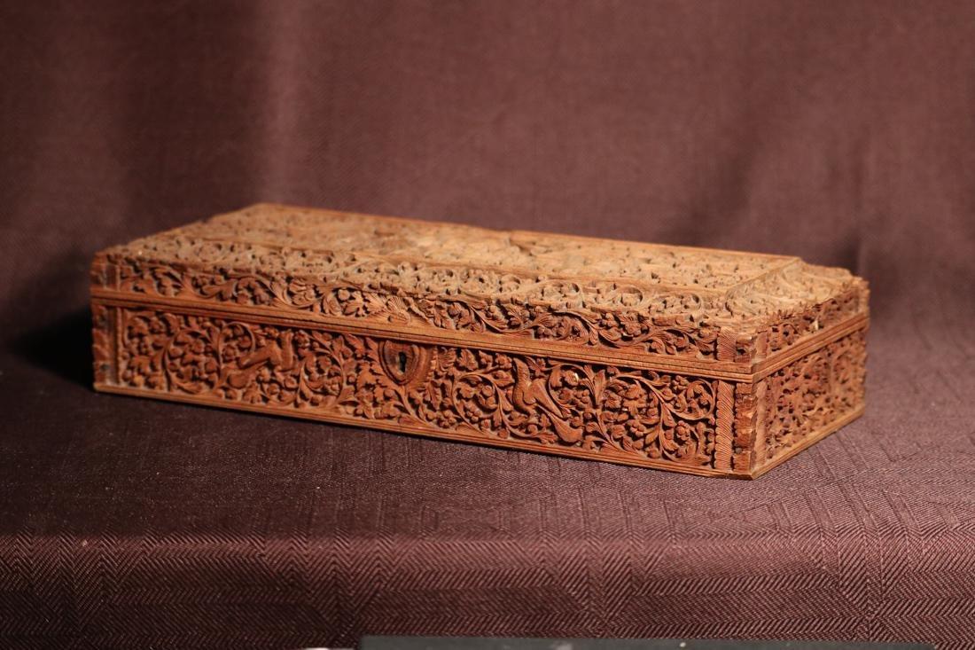 Indian Sandle Wood Box with Figural Scene - Albert - 5