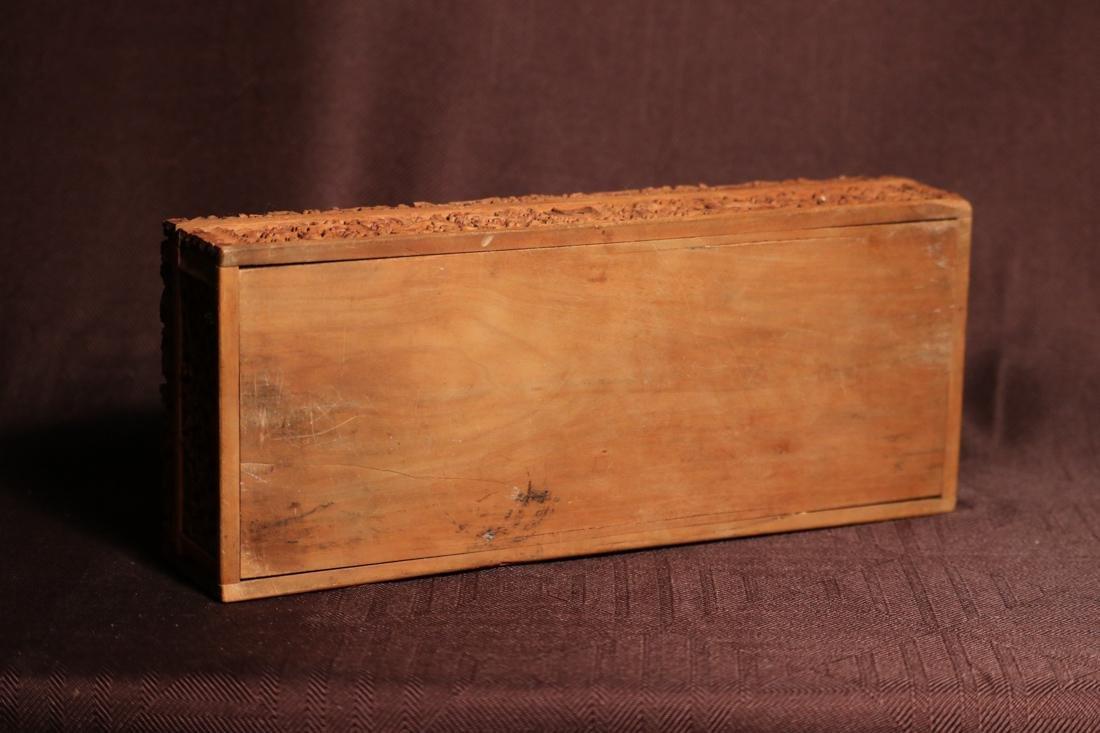 Indian Sandle Wood Box with Figural Scene - Albert - 7
