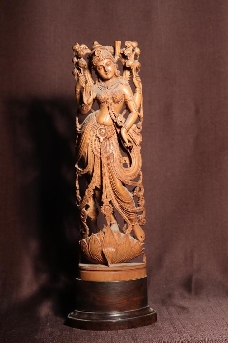 Indian Sandle Wood Carving of a Dancing Shiva - Albert