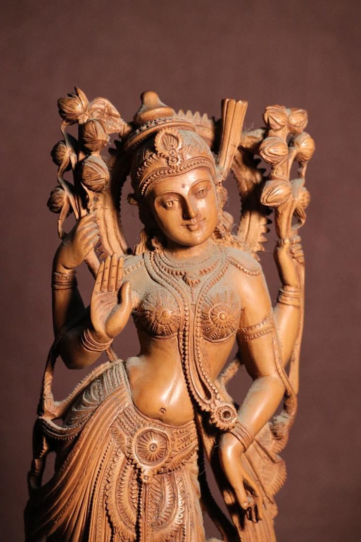 Indian Sandle Wood Carving of a Dancing Shiva - Albert - 2