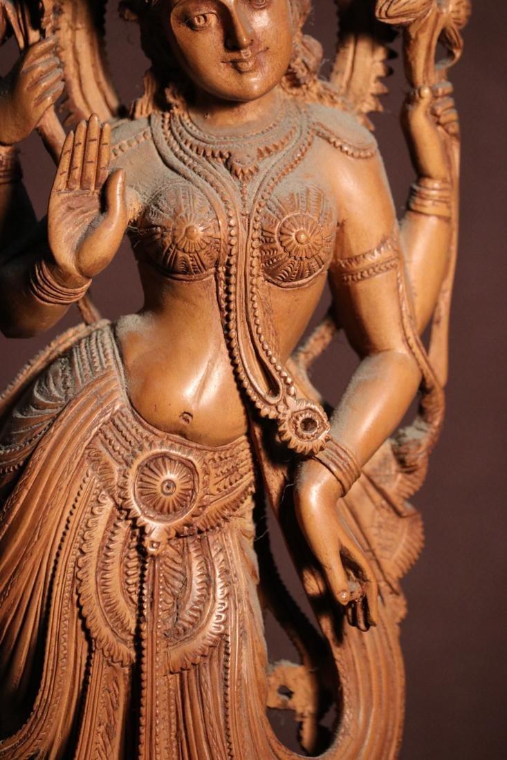 Indian Sandle Wood Carving of a Dancing Shiva - Albert - 3