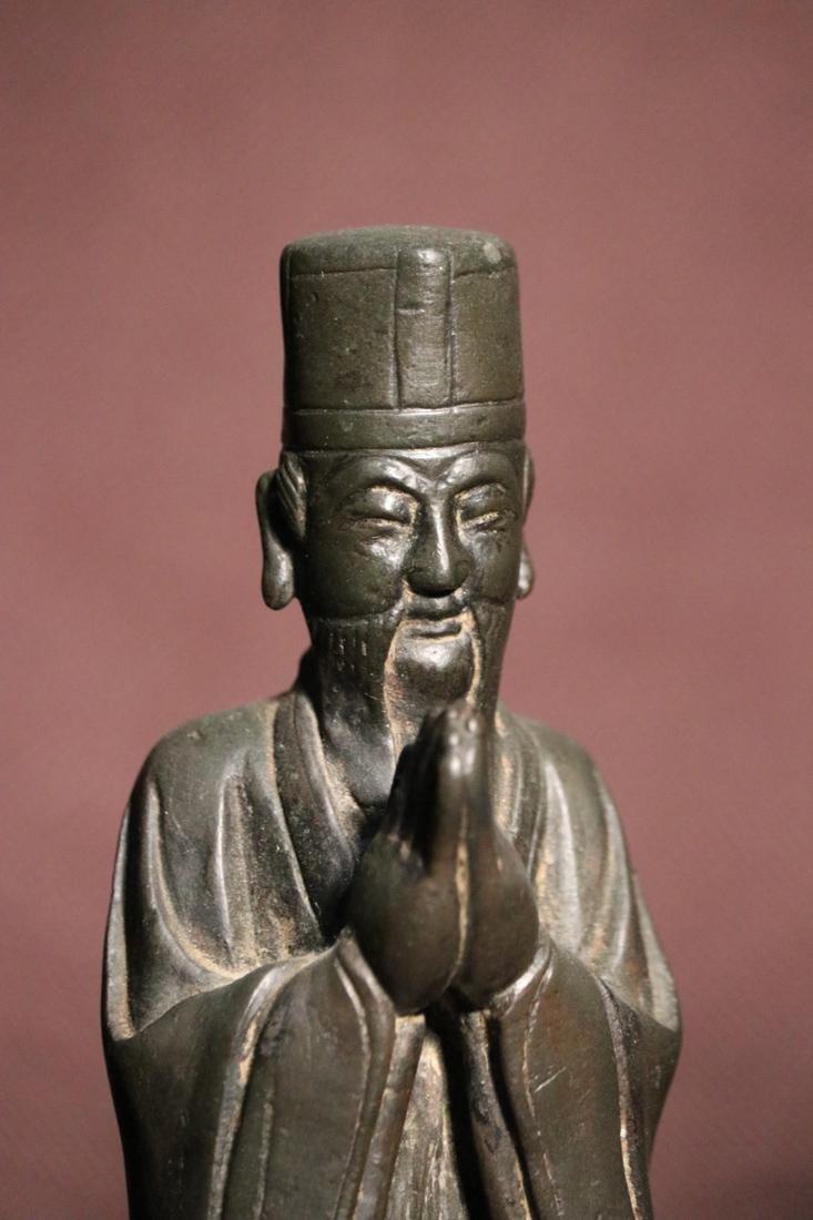 Chinese Ming Bronze Standing Daoist Figurine - Albert - 2