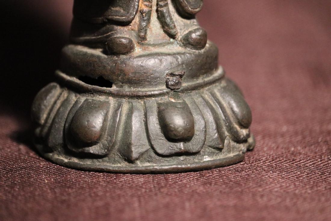 Chinese Ming Bronze Standing Daoist Figurine - Albert - 3