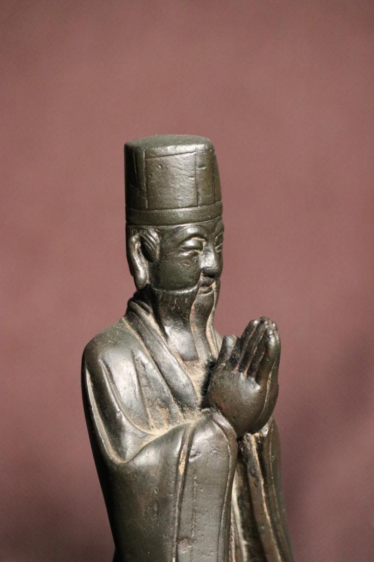 Chinese Ming Bronze Standing Daoist Figurine - Albert - 5