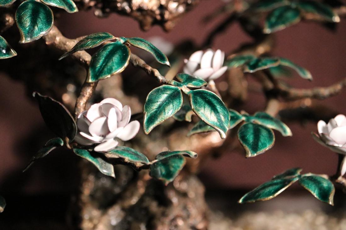Chinese Enamled Floral Blossom Bonsai Planter - Albert - 2