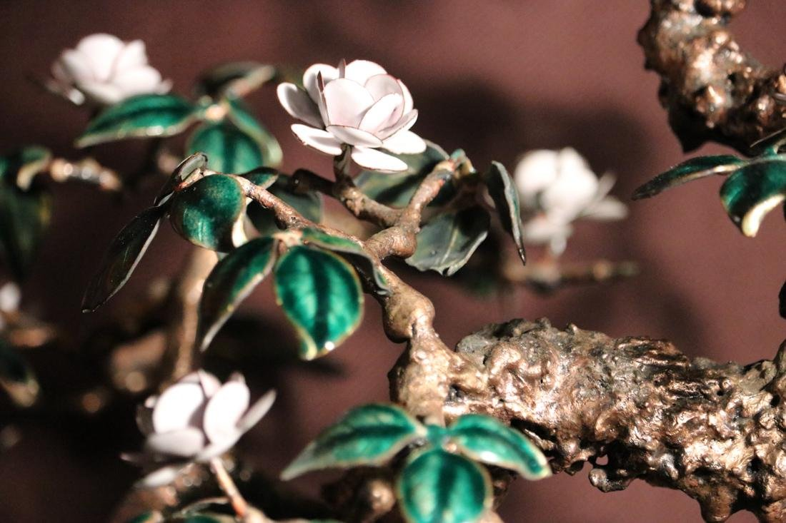Chinese Enamled Floral Blossom Bonsai Planter - Albert - 3