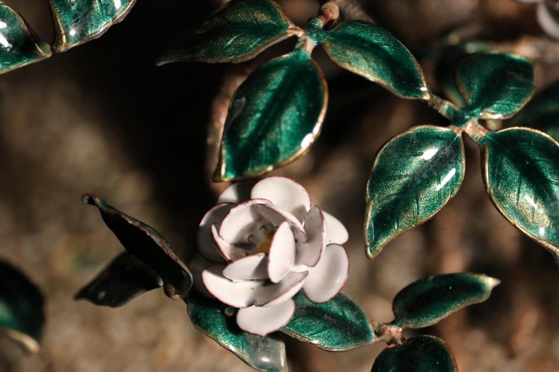 Chinese Enamled Floral Blossom Bonsai Planter - Albert - 4