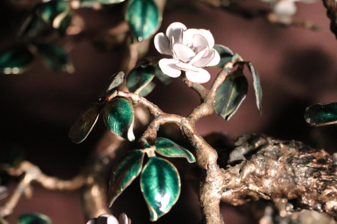 Chinese Enamled Floral Blossom Bonsai Planter - Albert - 5