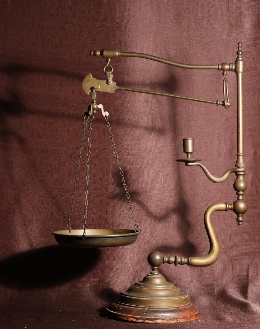 Rare English Bronze Weighting Scale - Albert Gallatin
