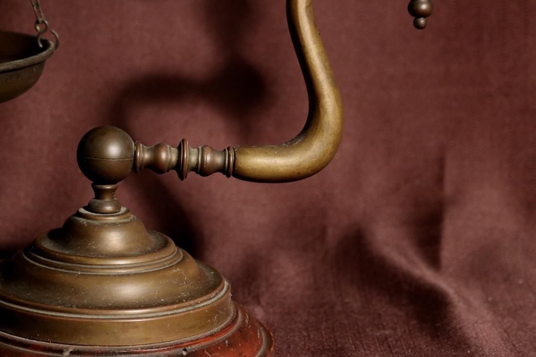 Rare English Bronze Weighting Scale - Albert Gallatin - 3