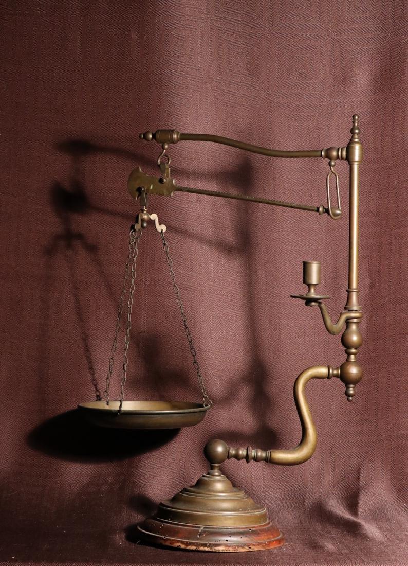 Rare English Bronze Weighting Scale - Albert Gallatin - 8