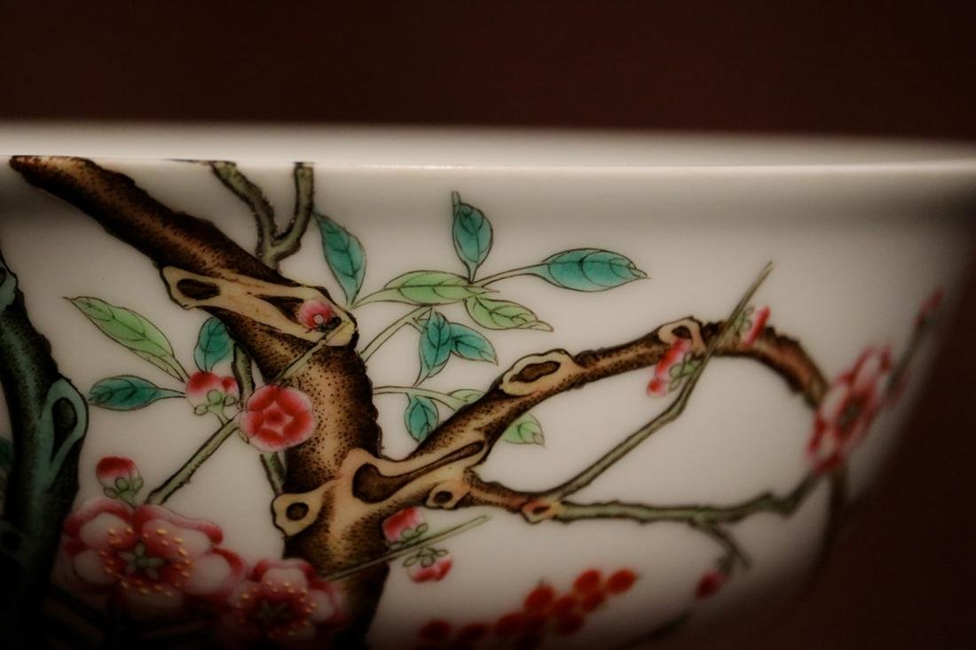 Chinese Porcelain Bowl with Wood Base - Albert Gallatin - 2