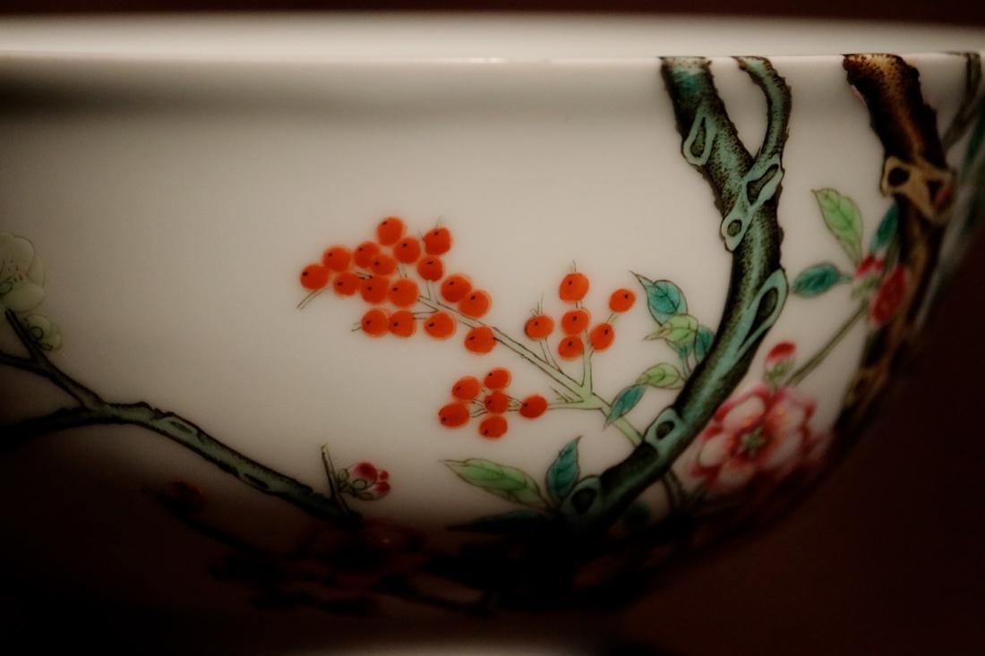 Chinese Porcelain Bowl with Wood Base - Albert Gallatin - 4