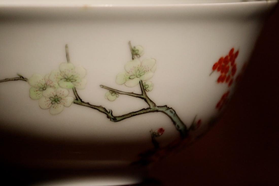 Chinese Porcelain Bowl with Wood Base - Albert Gallatin - 6