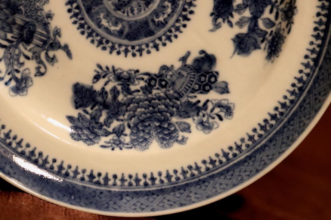Chinese 18th cen Export Blue White Porcelain Dishes - - 3