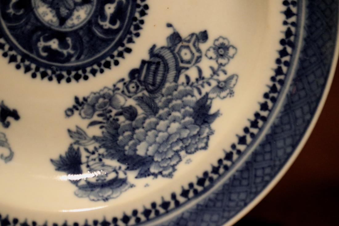 Chinese 18th cen Export Blue White Porcelain Dishes - - 7