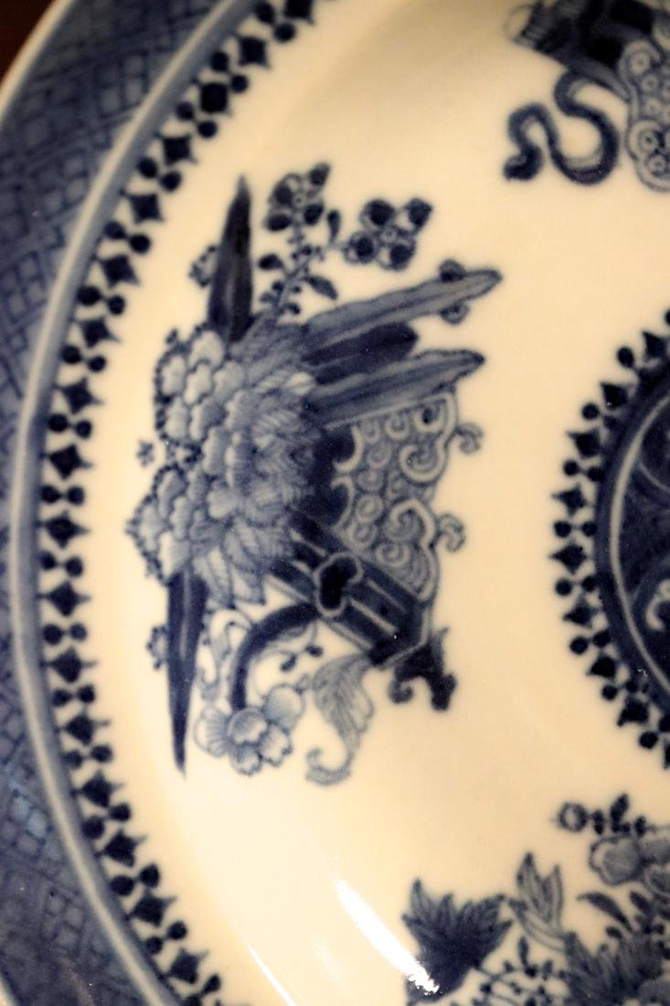 Chinese 18th cen Export Blue White Porcelain Dishes - - 8