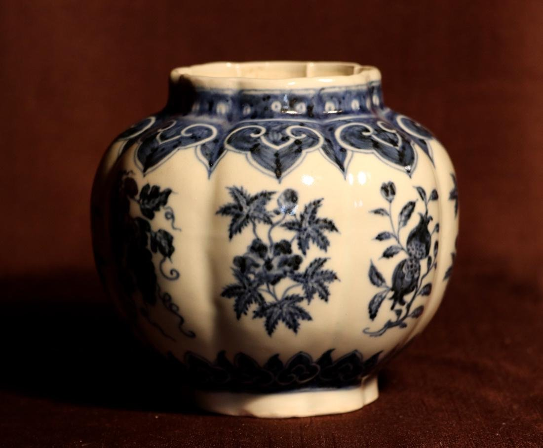Chinese Blue White Porcelain Jar - James Gallatin