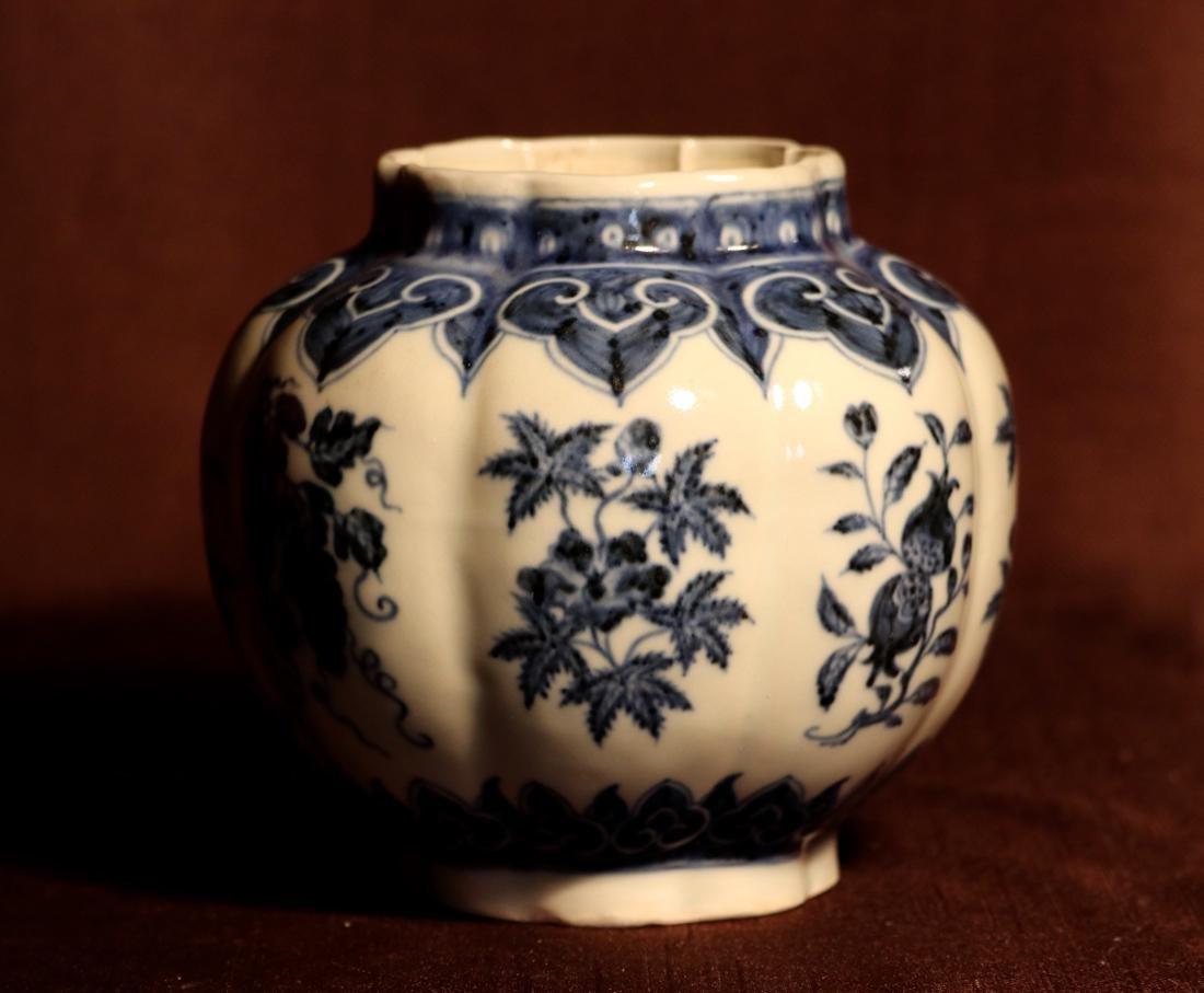 Chinese Blue White Porcelain Jar - James Gallatin