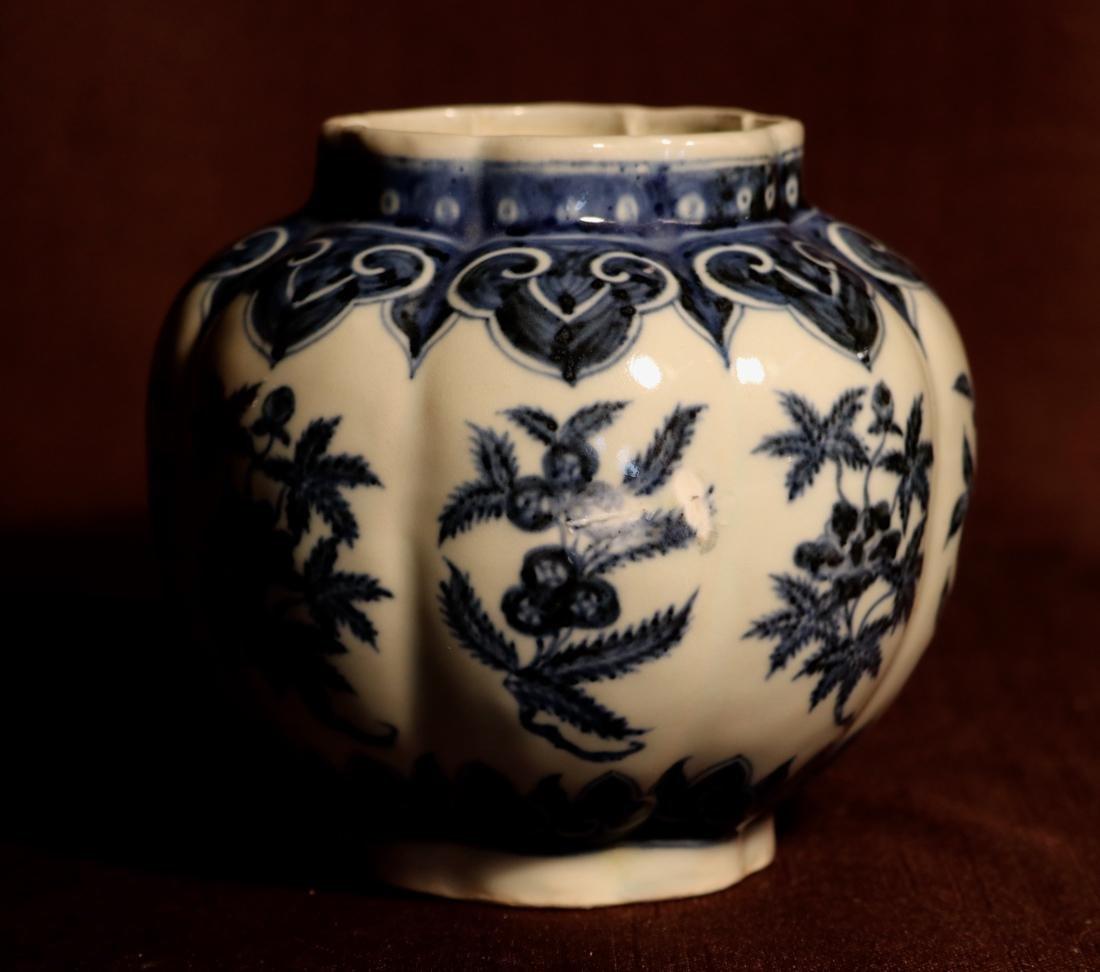 Chinese Blue White Porcelain Jar - James Gallatin - 3
