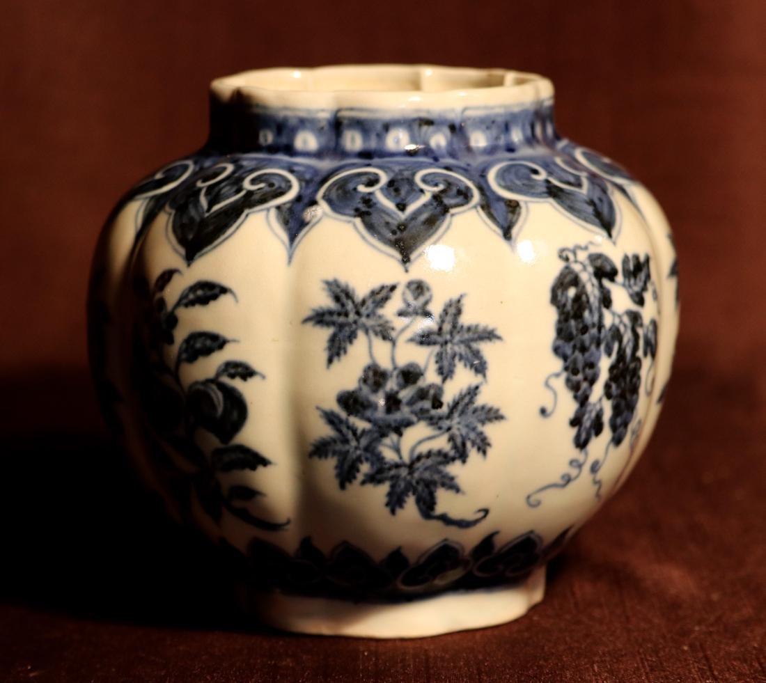 Chinese Blue White Porcelain Jar - James Gallatin - 5