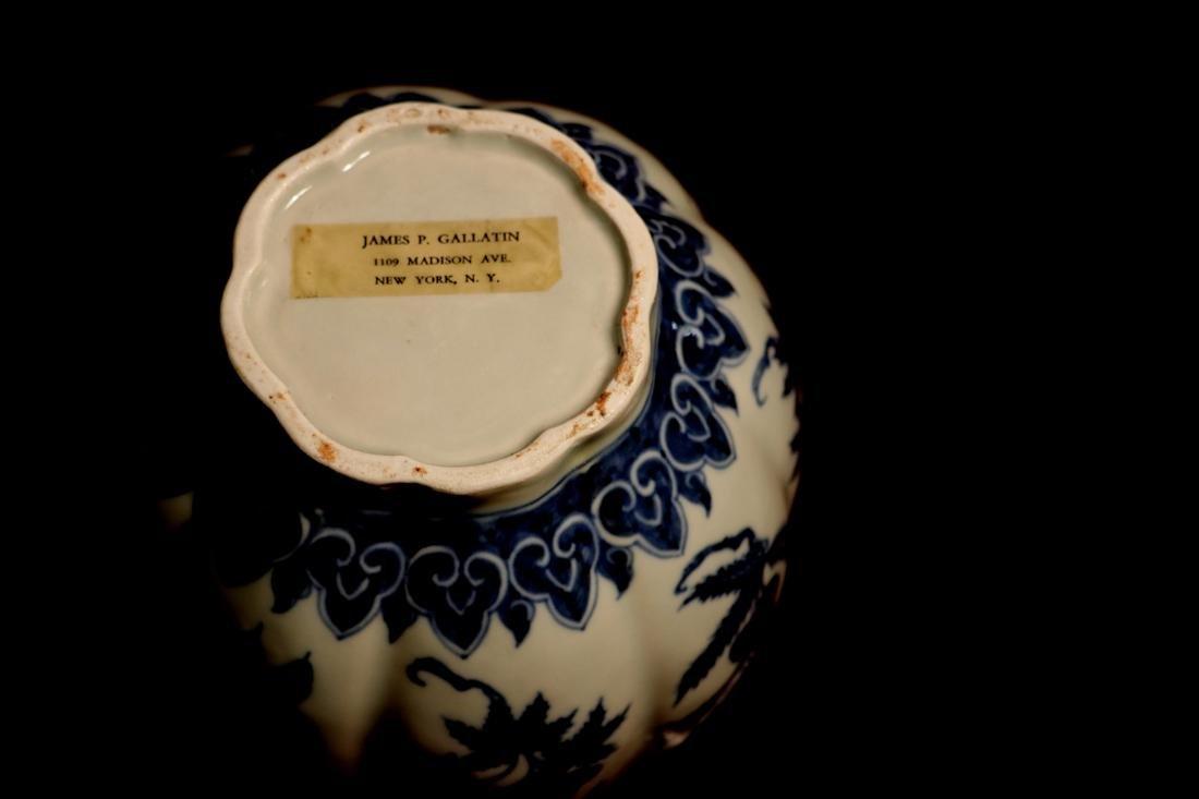 Chinese Blue White Porcelain Jar - James Gallatin - 8