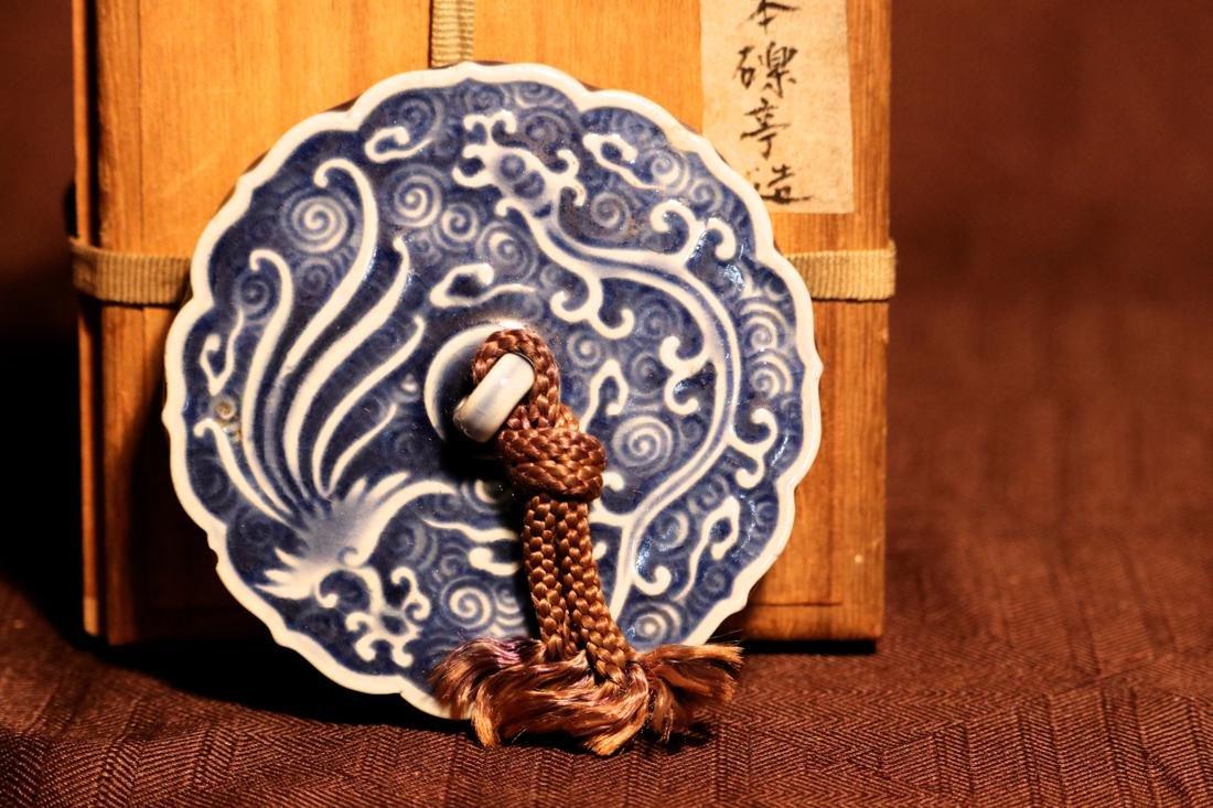 Japanese Studio Porcelain Mirror with Box - Albert - 2