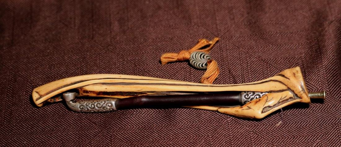 Japanese Tobaco Pipe with Deer Atler Case - Albert