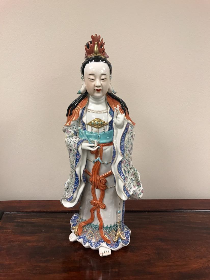Chinese Famille Rose Porcelain Kuanyin - Albert