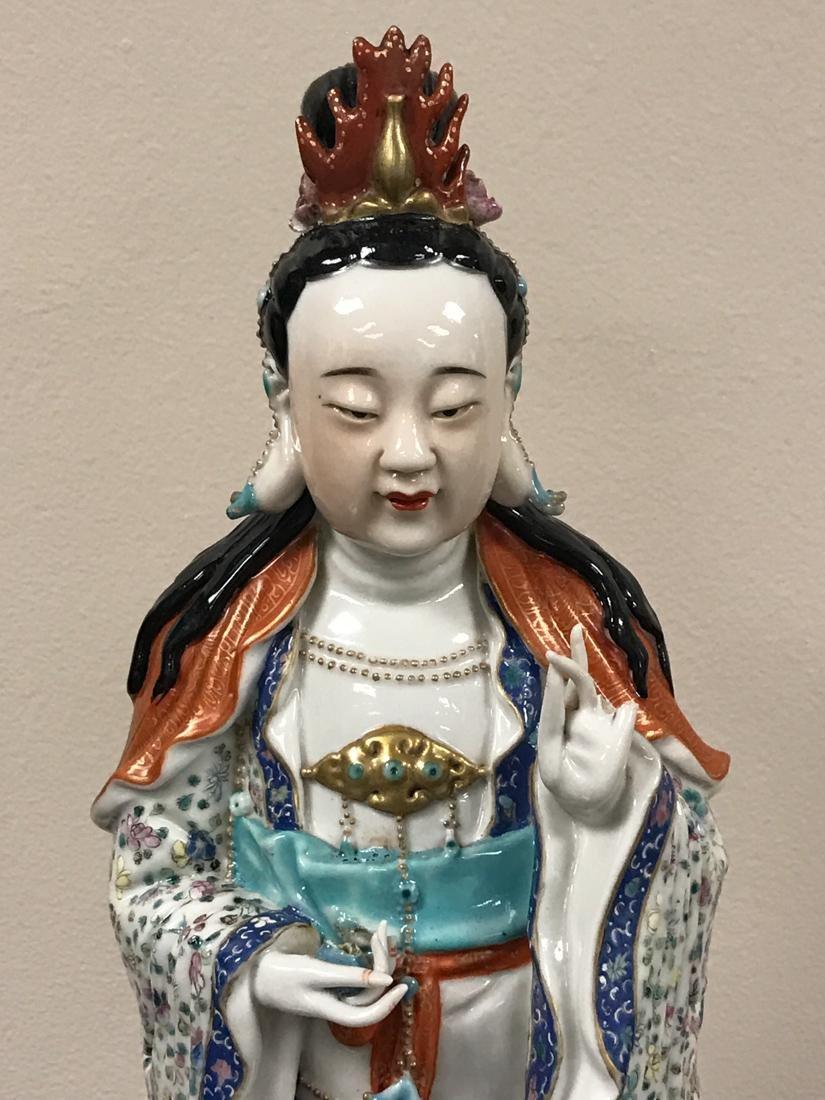 Chinese Famille Rose Porcelain Kuanyin - Albert - 2