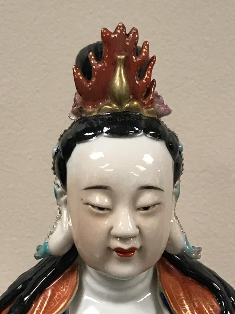 Chinese Famille Rose Porcelain Kuanyin - Albert - 4