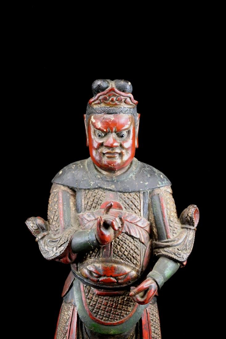 Chinese Ming Lacquered Wood Guardian - Albert Gallatin - 2