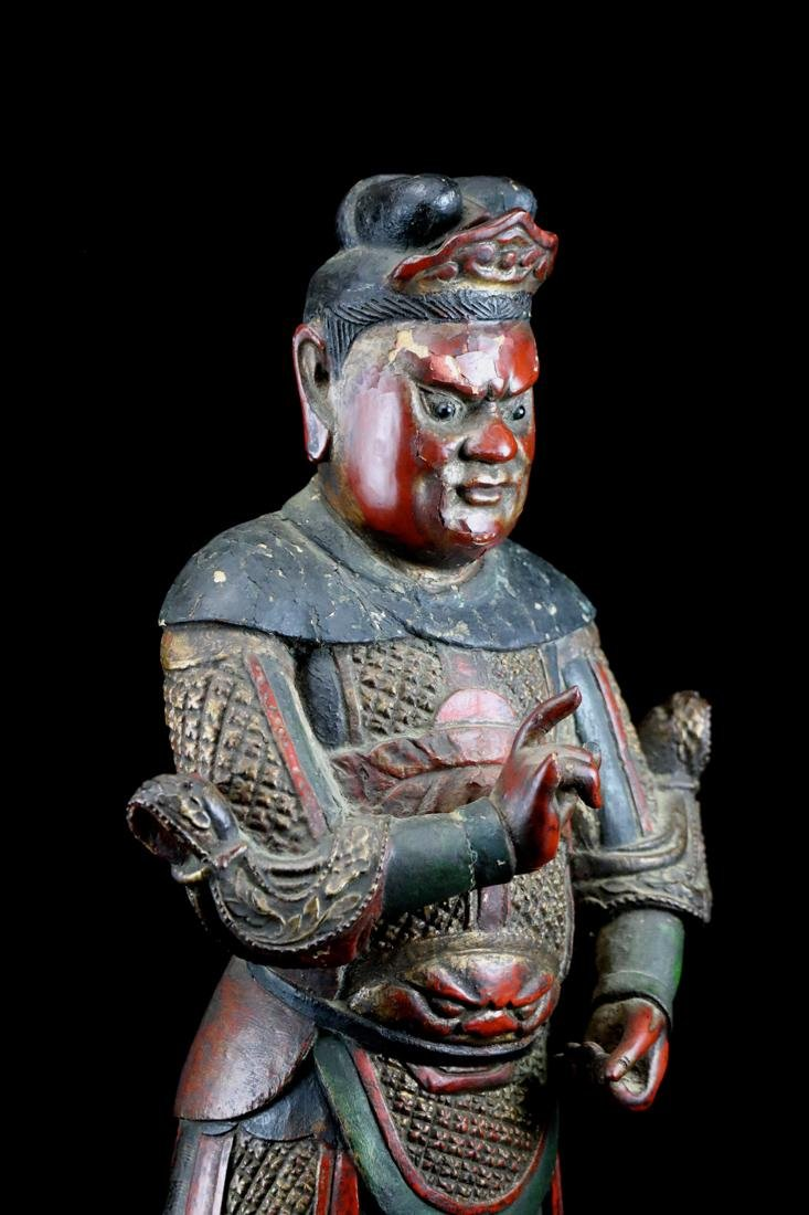 Chinese Ming Lacquered Wood Guardian - Albert Gallatin - 5
