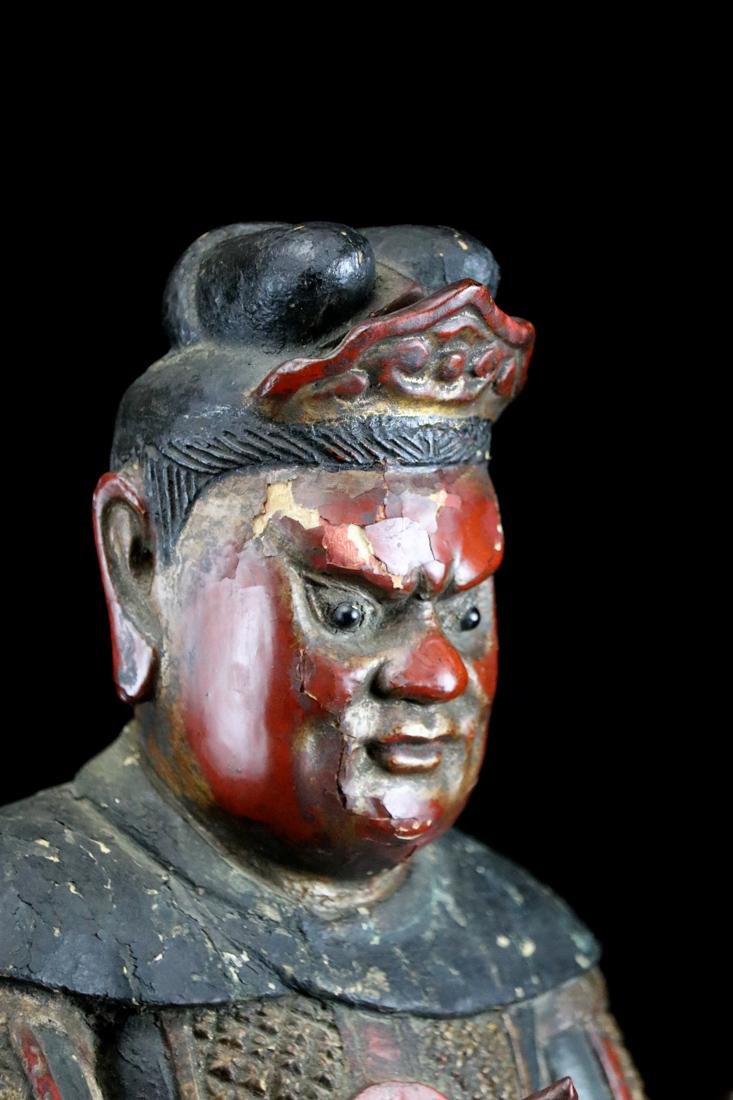 Chinese Ming Lacquered Wood Guardian - Albert Gallatin - 6