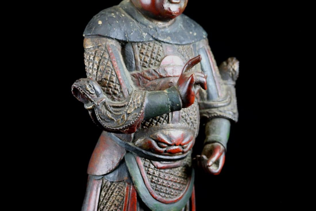 Chinese Ming Lacquered Wood Guardian - Albert Gallatin - 7