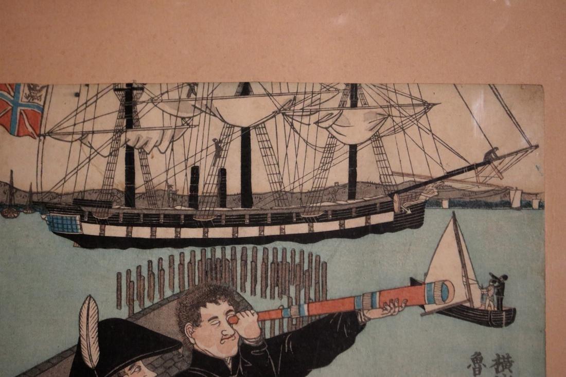 Japanese Wood Block Print - Sadahide (1807-1873) - - 5