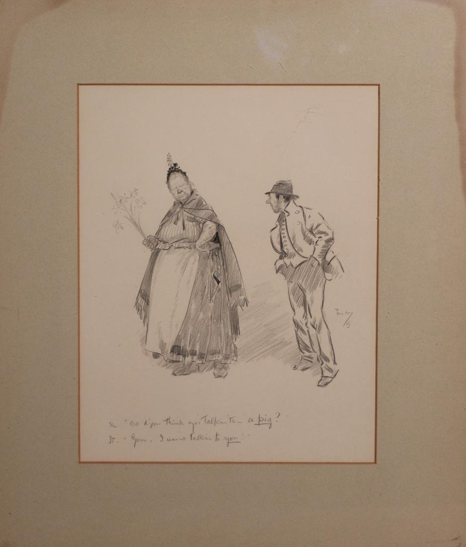 Etching by Phil May - Property of Albert Gallatin
