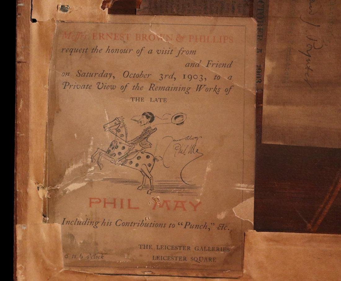 Etching by Phil May - Property of Albert Gallatin - 7