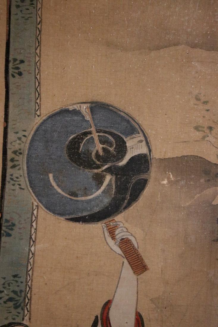 Rare Ukiyo-e Painting on Silk by Kawamata Tsunemasa - 5