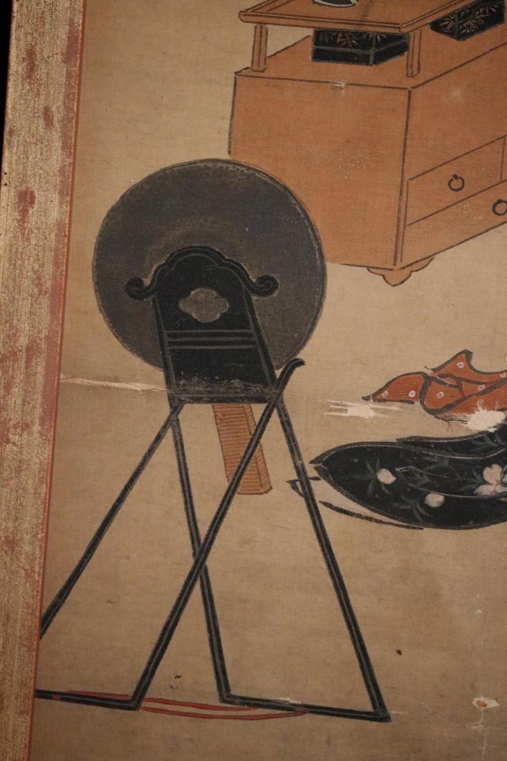 Rare Ukiyo-e Painting on Silk by Kawamata Tsunemasa - 6