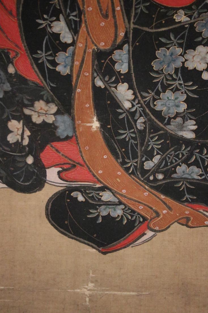 Rare Ukiyo-e Painting on Silk by Kawamata Tsunemasa - 8