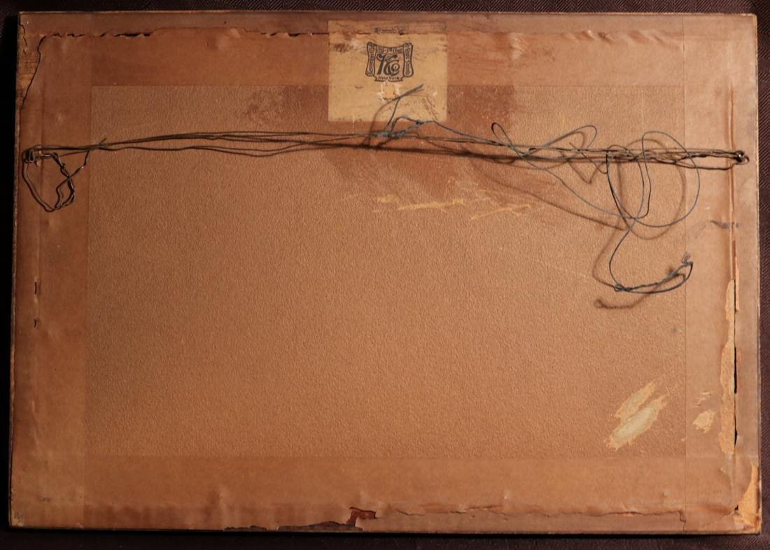 Rare Ukiyo-e Painting on Silk of a Geisha - Unsigned - - 7
