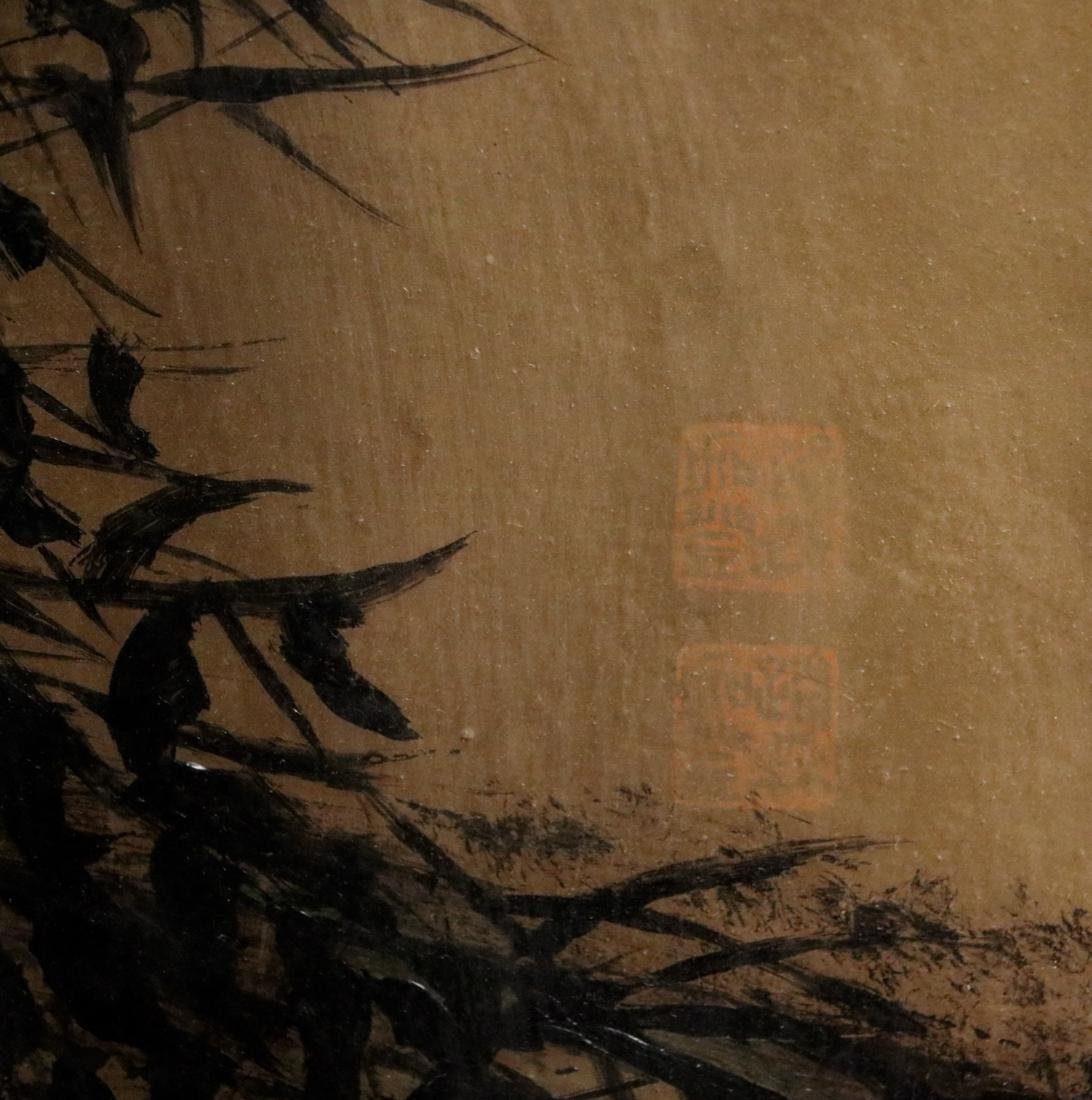 Chinese Painting of Bamboo on Gold Paper - Albert - 2
