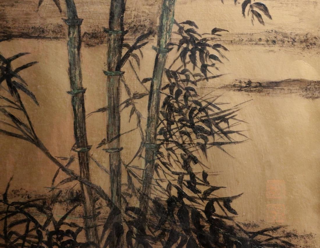 Chinese Painting of Bamboo on Gold Paper - Albert - 3