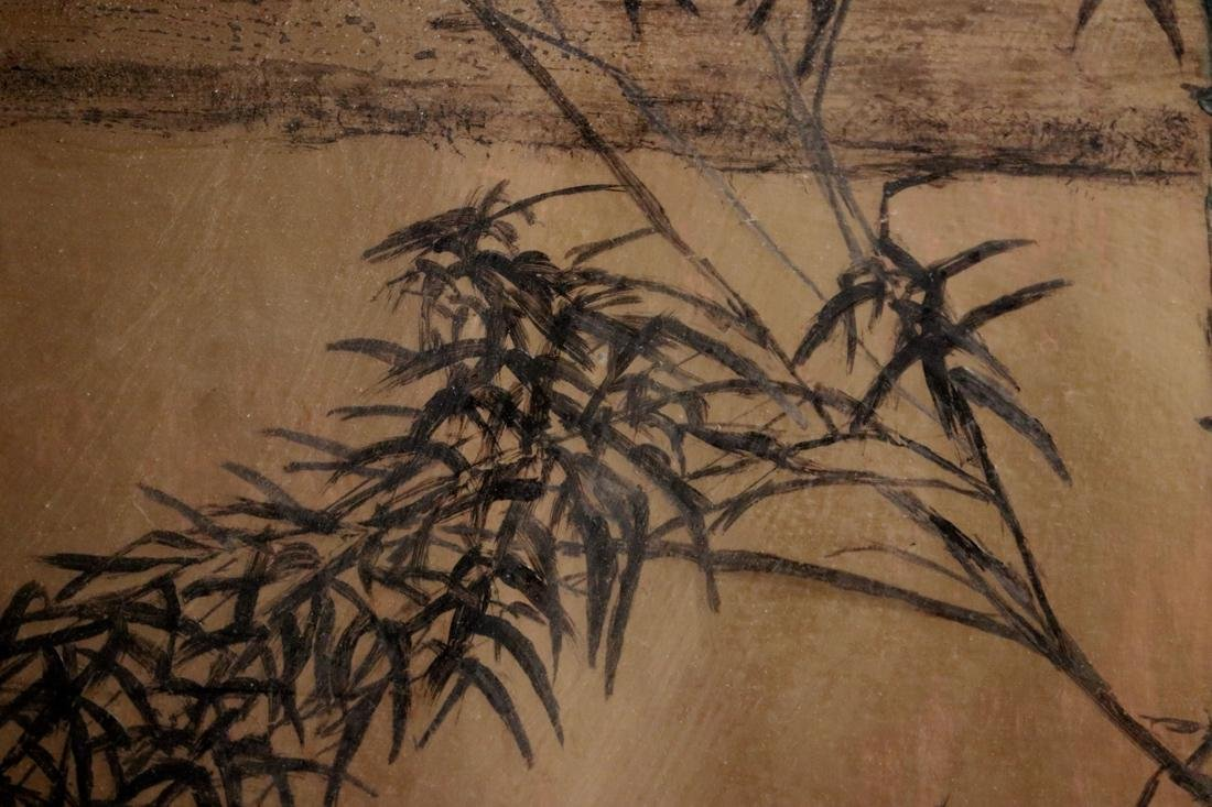 Chinese Painting of Bamboo on Gold Paper - Albert - 4