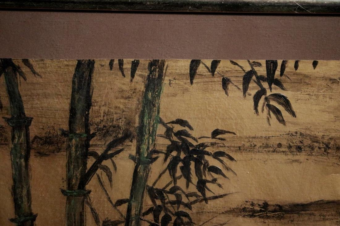 Chinese Painting of Bamboo on Gold Paper - Albert - 5
