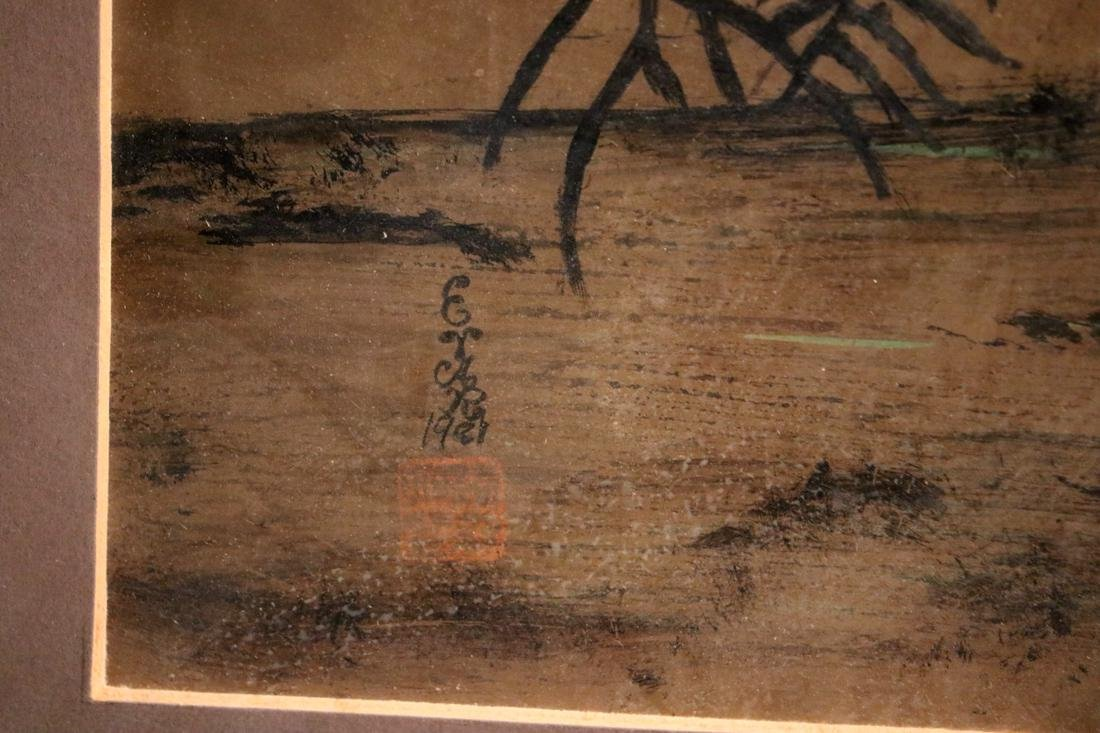 Chinese Painting of Bamboo on Gold Paper - Albert - 6