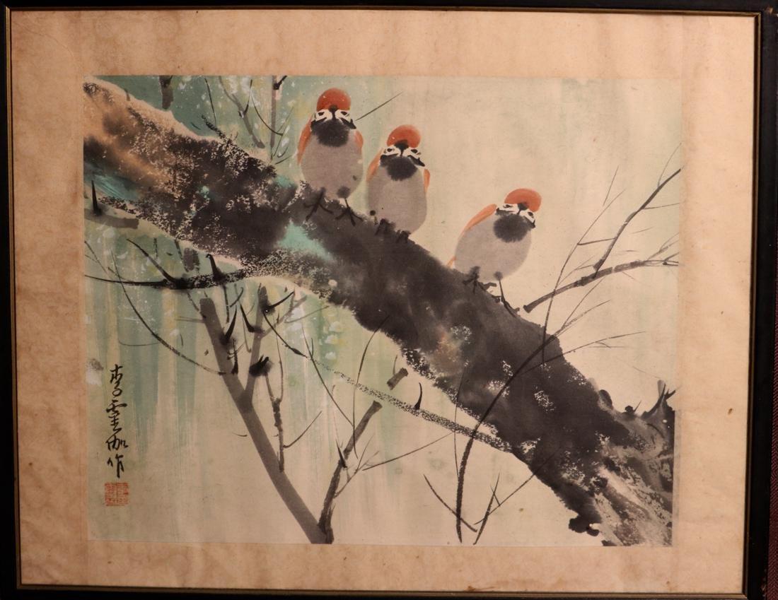 Chinese Painting of Pair Bird - Albert Gallatin Estate