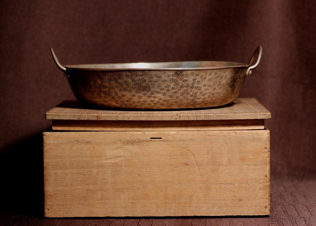 Japanese Sterling Silver Shahu Shabu Hot Pot with